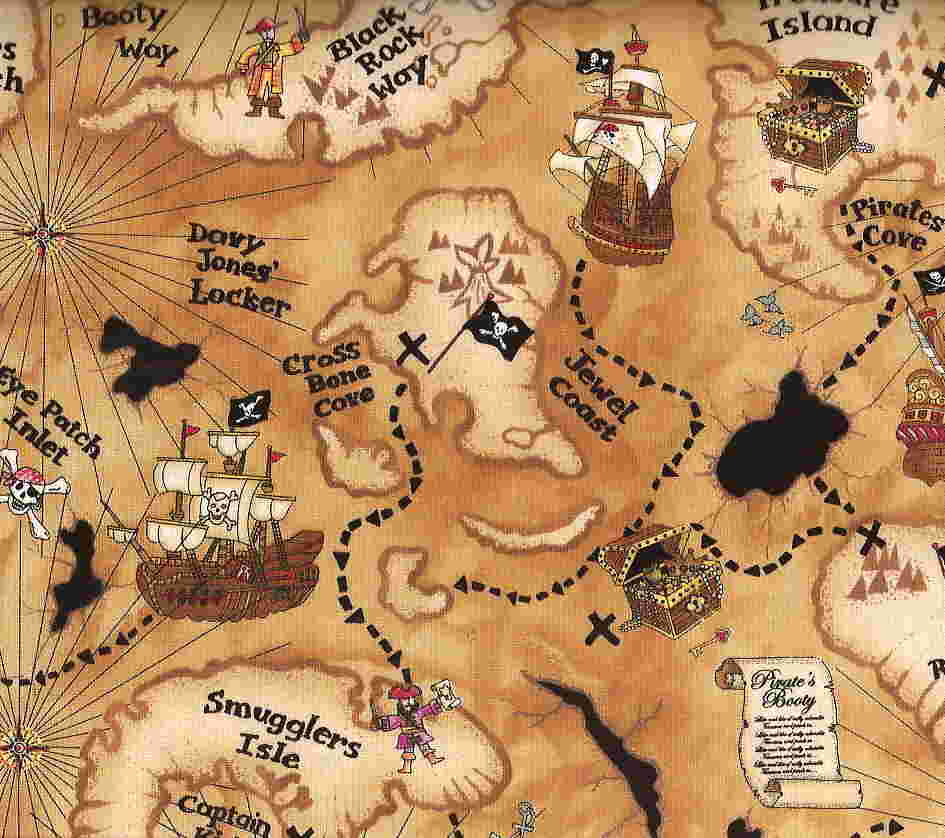 Adaptable image with regard to printable pirate map