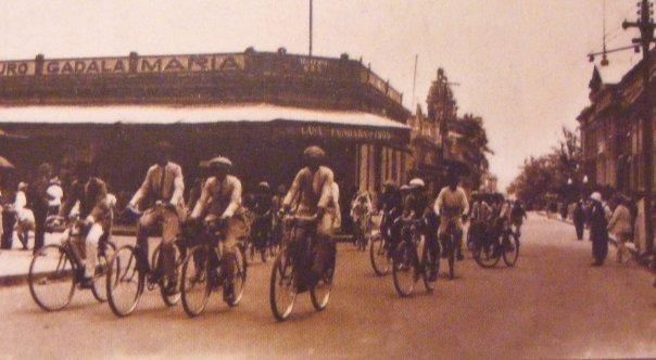 ciclistas en el San Salvador de ayer
