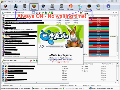 eMule v0.49b Applejuice v3.1 NoAds - Super Source Finder always on