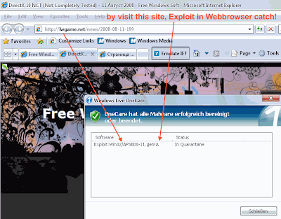 Exploit:Win32/APSB08-11.gen!A attempts to exploit a vulnerability in Adobe Shockwave Flash. Successful exploitation of this vulnerability could result in arbitrary code execution. In the wild, this trojan has been used in order to download and execute arbitrary files (including additional malware) onto an affected system.