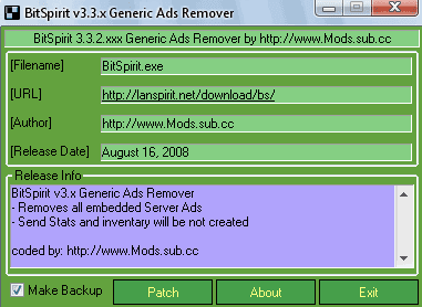 BitSpirit v3.x Generic Ads Remover
