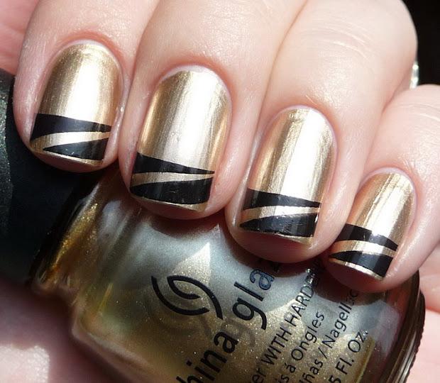 beautiful nail art chanel inspired