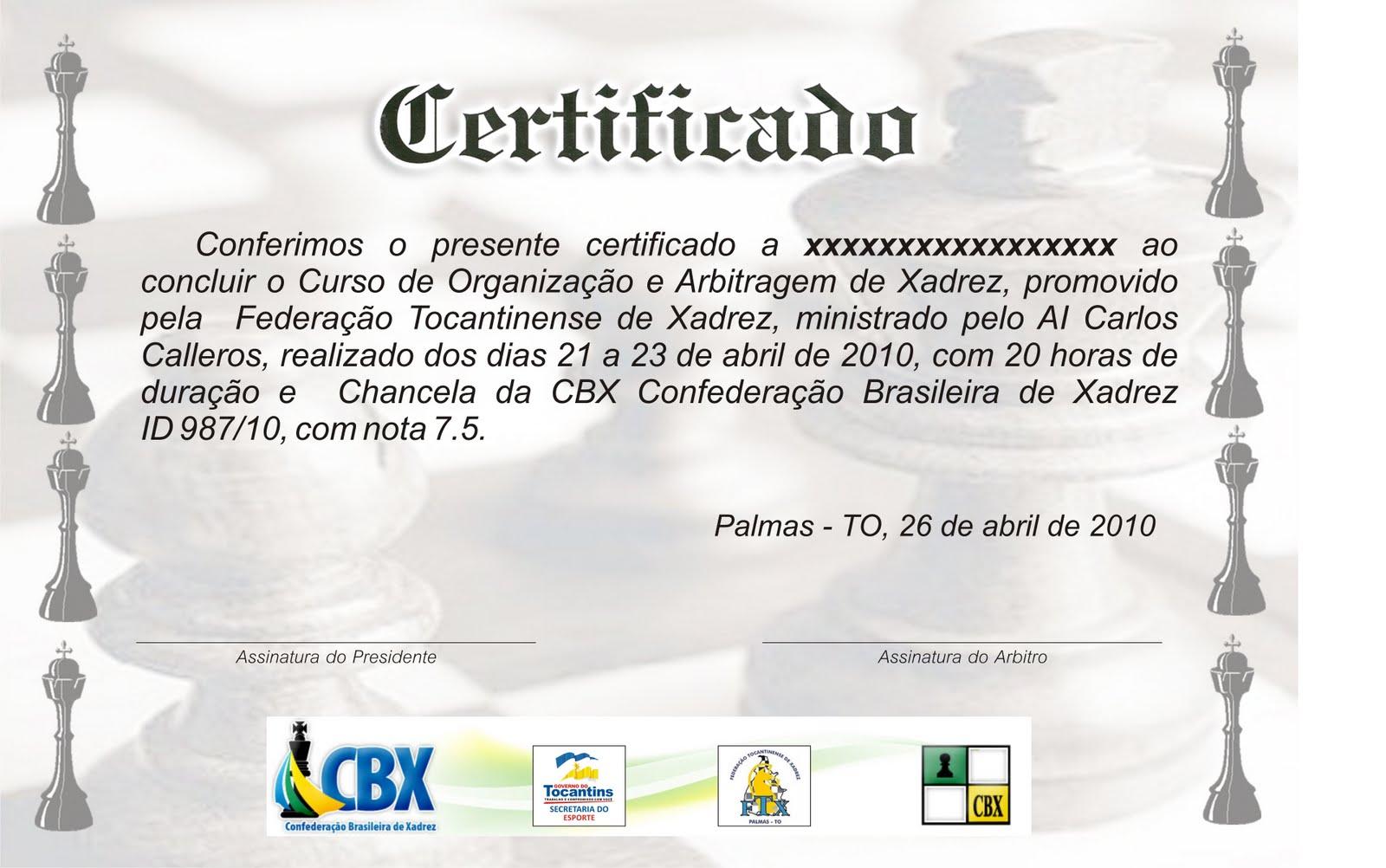 Aberto De Xadrez Do Tocantins   2010   ID 986 10   6 Rodadas