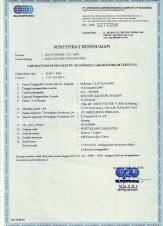 Sertifikat Kesesuaian yang dikeluarkan Oleh PT. SUCOFINDO