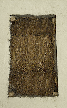 Open section of the wall showing the straw bales