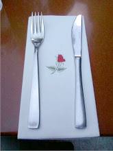 Rose napkin