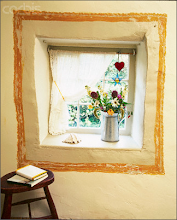 Painted frame around window