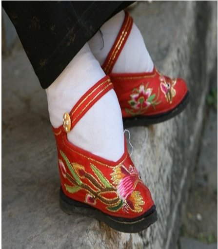 an analysis of the ancient chinese custom of foot binding A 105-year-old woman, who has bound feet, has her toenails cut by her   chinese women - as ever - colluded in this patriarchal oppression,.