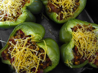 Morsels of Life - Lentil Stuffed Green Peppers