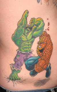 Tattoo Hulk vs The Thing