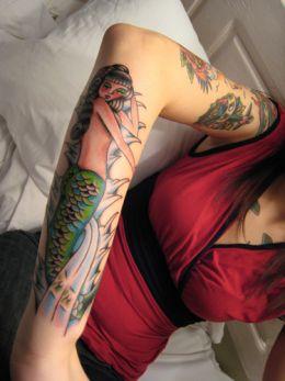 Modern Tattoo women Pictures