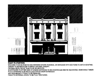 A extract image from the planning application showing the front view after renovation