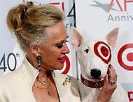 Tippi Hedren with Bullseye