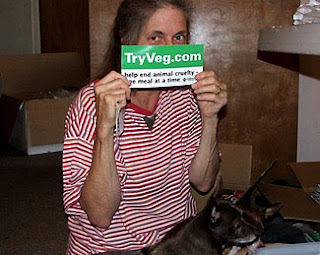 tryveg.com human and her dogs