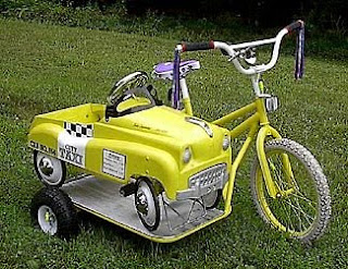 bicycle and taxi sidecar