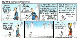 MUTTS Chicken strip 12 Oct 08 cartoon copyright 2008