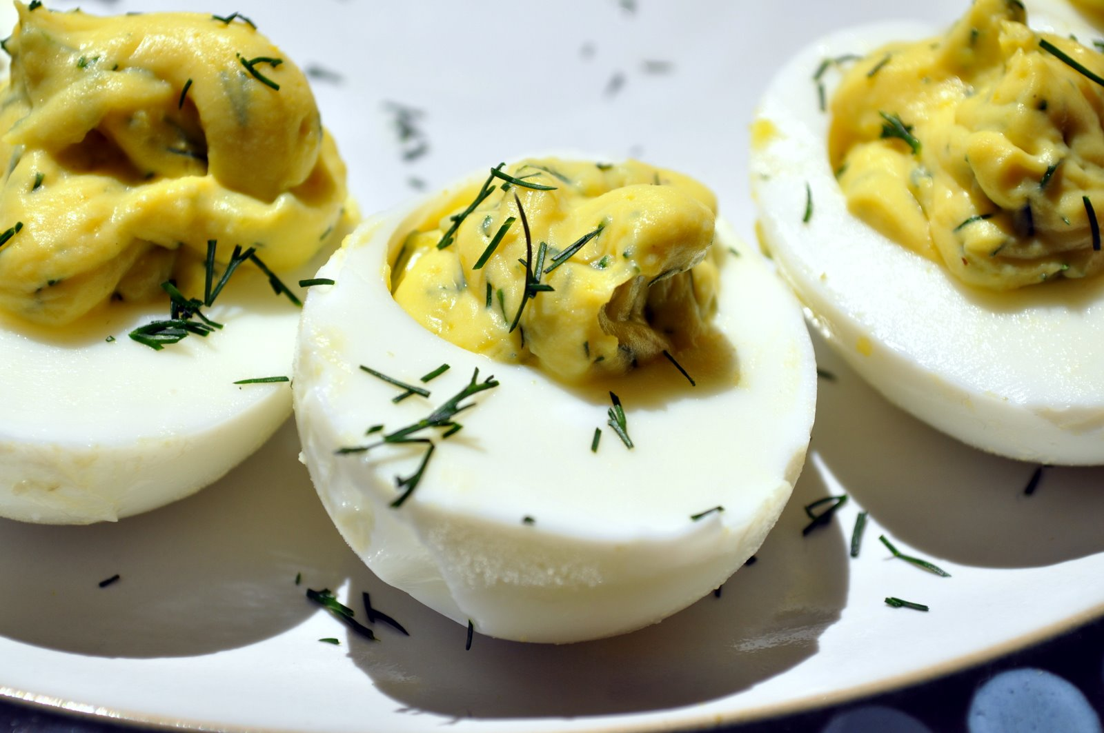 Dill And Lemon Deviled Eggs Recipe — Dishmaps