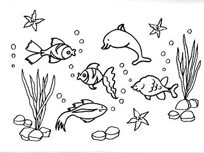 Nuevas l minas did cticas dibujos para imprimir y for Fondo marino da colorare