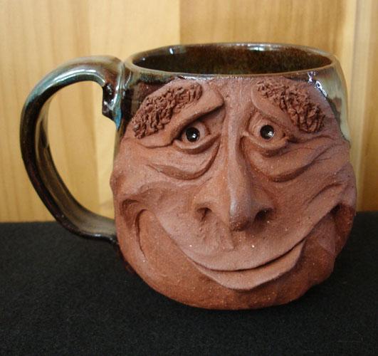 Mug designs with faces spicytec for Clay mug ideas
