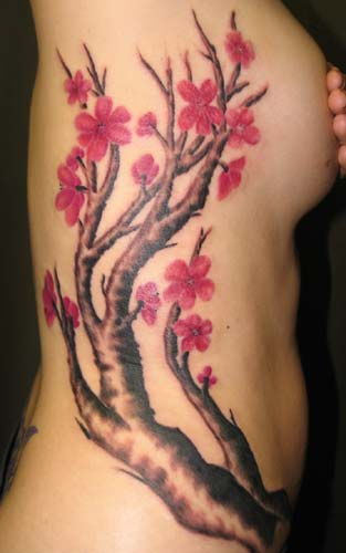 In Japanese lifestyle the Cherry Blossom Tattoos symbolizes the brevity of