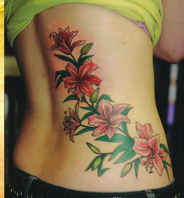 As far as placement of flower vine tattoos are concerned, they can look
