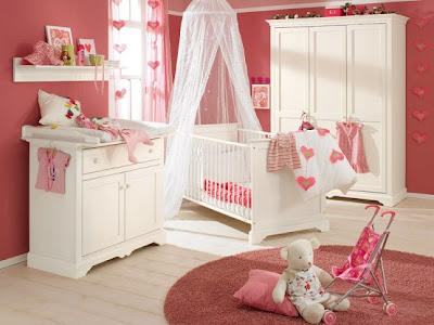 White and Wood Baby Nursery Furniture Sets 4