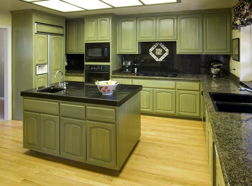 Kitchen Design Green Picking a shade such as this green is a brave move