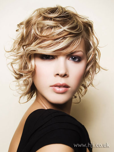 flip hairstyle. medium length blonde hairstyles