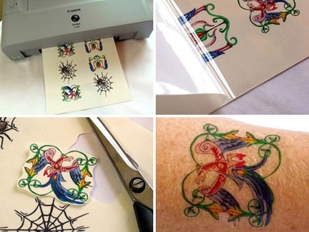 Temporary / Removable Smurf Tattoos Flower & Butterfly Temporary Tattoos 10