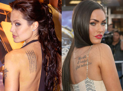 celebrities tattoos