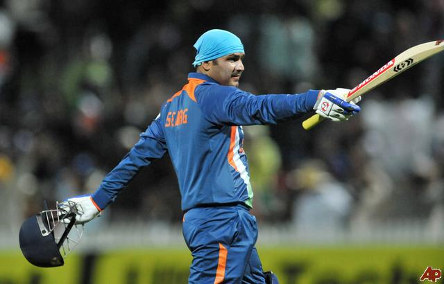 Virender Sehwag scored a superb 175 in the World Cup's opening game