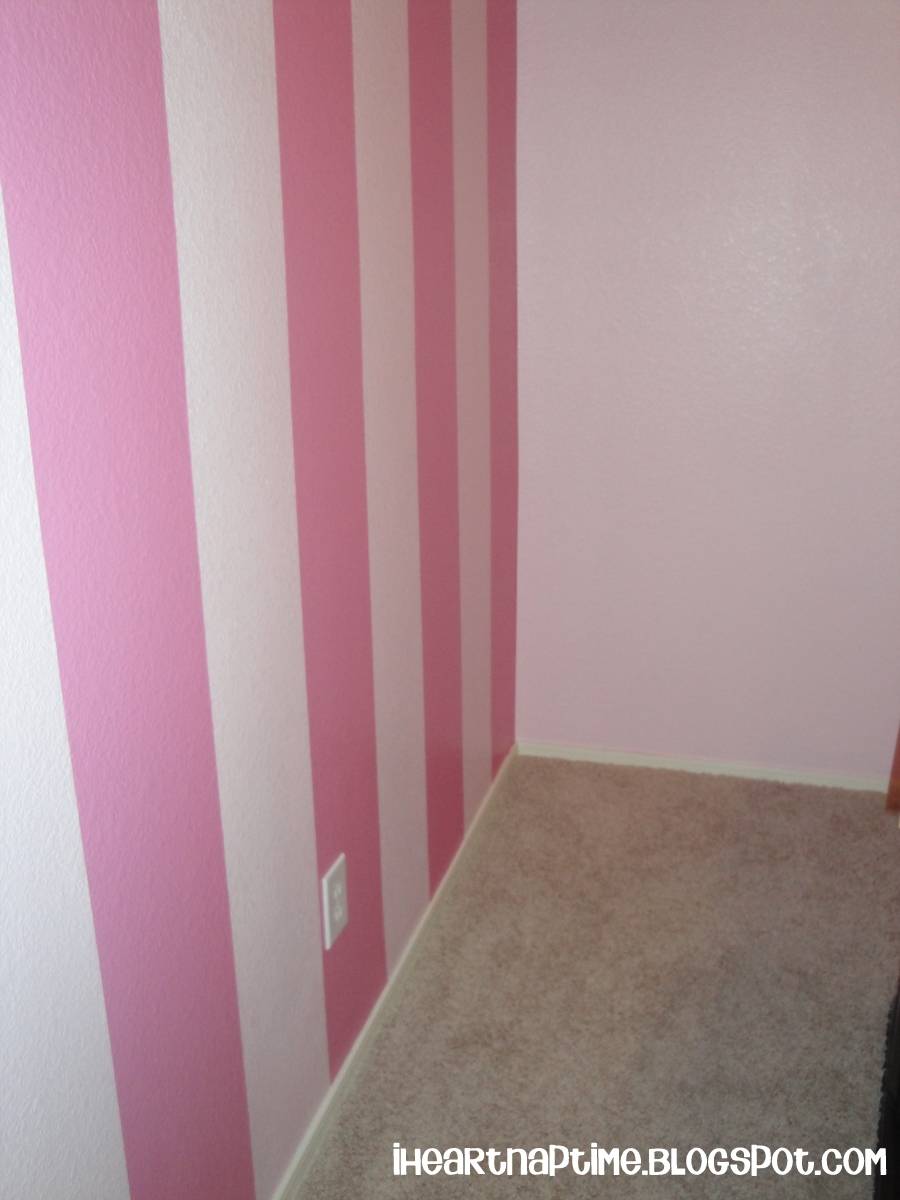 How to paint stripes on the wall i heart nap time How to paint a bedroom wall