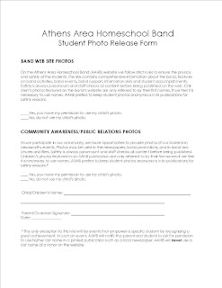 Summer Camp Photo Release Form