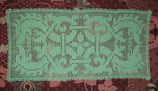 Вязание филейное дорожка 394