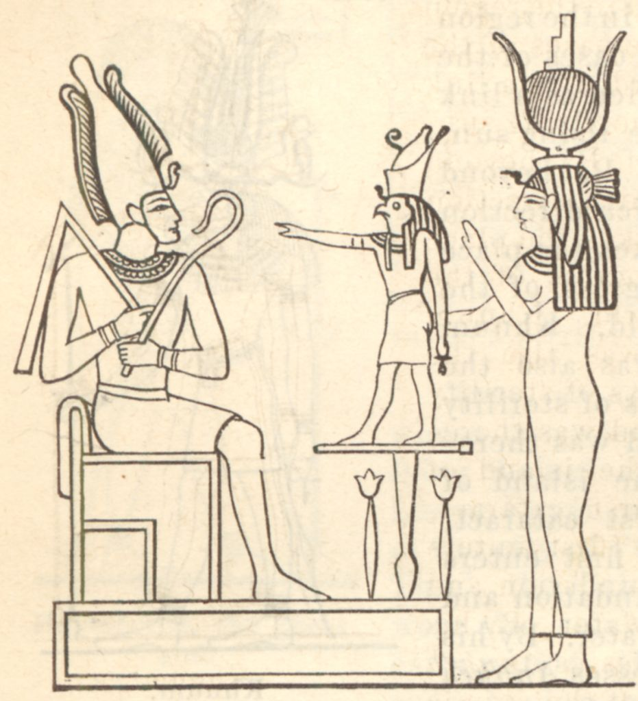 osiris isis and horus Since horus, as the son of osiris, was only in existence after osiris's death, and because horus, in his earlier guise, was the husband of isis, the difference between horus and osiris blurred, and so, after a few centuries, it came to be said that horus was the resurrected form of osiris.