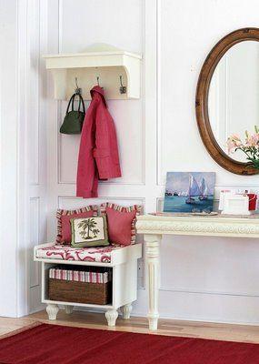 Colores para decorar ideas para vestibulos entradas - Entradas con percheros ...