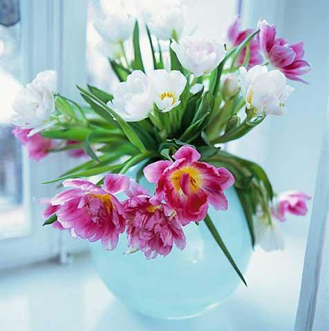 Colores para decorar jarrones blancos como combinarlos - Jarrones de cristal con flores ...