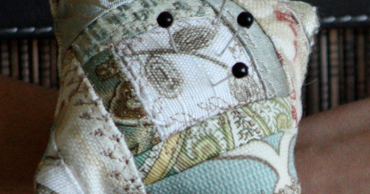 The Dixie Chicken Quilts Crazy Quilted Wrist Pincushion