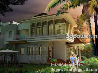 """3d image of roof style farm house"""