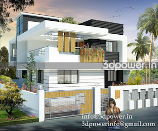 """3d rendering service small bungalow"""