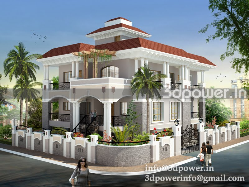 ... , 3d interior, cut section, photomontage india: | 3D Bungalow