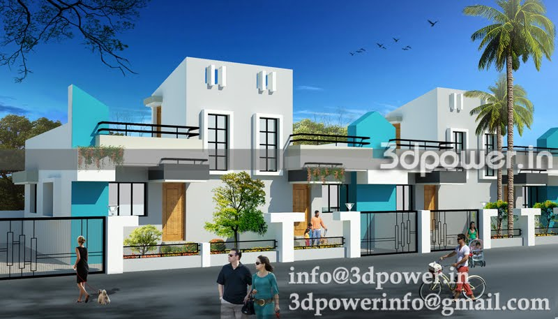 india twin bungalow elevation bungalow landscaping bungalow elevation ...