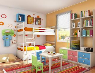 mod de organizare a mobilierului in camera copilului