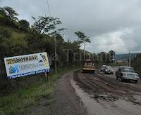 carreteras en mal estado debido a las continuas lluvias