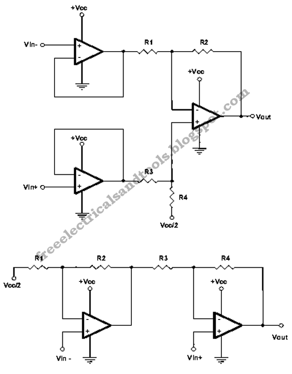free schematic diagram  single supply instrumentation