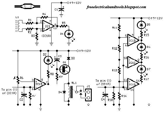 free schematic diagram  ac current monitor schematic