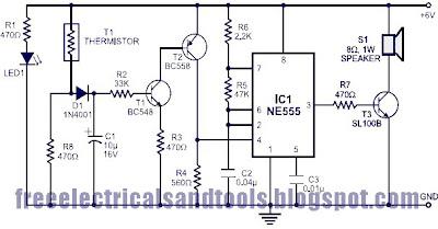 Fire Alarm Circuit Using 555 IC | Circuit Schematic Diagram