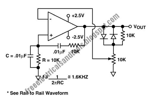 free schematic diagram  wien bridge oscillator circuit