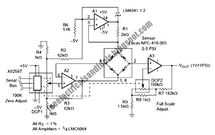 free schematic diagram  programmable pressure transducer