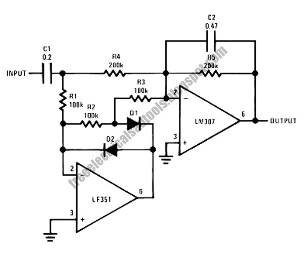 amplitude average detector circuit